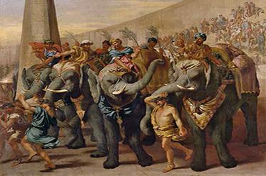 Andrea di Lione, Italian 1610–85 Elephants in a circus