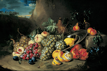 Harvest_Alexander COOSEMANS  Flanders 1627-1689  Still life c.1650  Oil on canvas  Bequest of The Hon. Thomas Lodge Murray Prior, MLC 1892 Collection Queensland Art Gallery