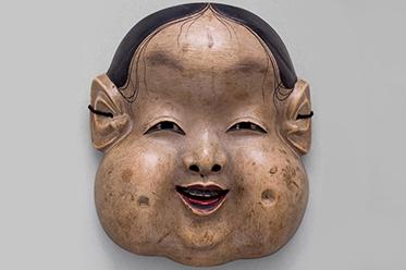 Kyogen mask Oto, Edo period, 18th century_editorial