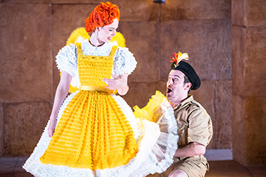OA_Anna Dowsley as Papagena and Christopher Hillier as Papageno_photo by Albert Comper