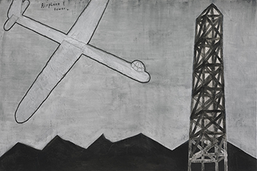 David Lynch_Airplane and Tower 2013