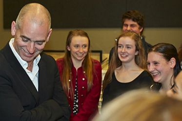 Rob Sitch with Youth Ambassadors