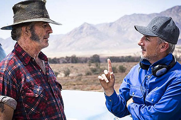 Wolf Creek 2_John Jarratt and Greg McLean_photo by Mark Rogers