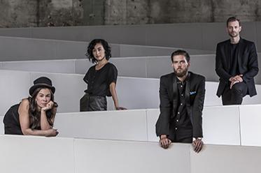 SDC_Fiona Jopp, Kristina Chan, Daniel Riley and Bernhard Knauer. Photo Peter Greig editorial