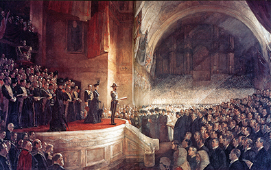 Tom Roberts Opening Parliament 1901