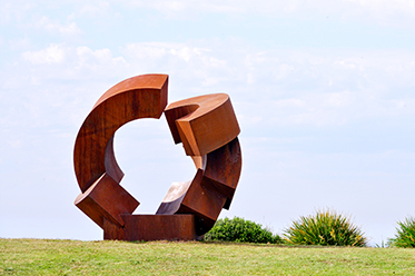 Sculpture by the Sea Jörg Plickat Divided Planet photo by Clyde Yee