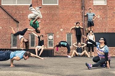 Circus Oz BLAKflip 2015 photo by Rob Blackburn
