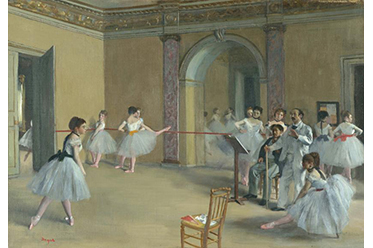 NGV Edgar Degas Rehearsal hall at the Opera rue Le Peletier 1872