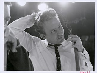 Close up of Johnny O'Keefe, 1961 photo courtesy of Seven Network