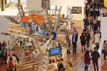 MAF Ian Burns Clouds Melbourne Art Fair Commission 2012