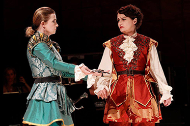 Sally-Anne Russell and Emma Matthews in Voyage to the Moon