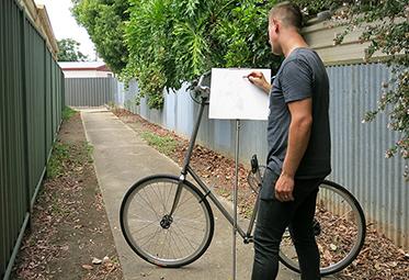 James Dodd Easel Rider - SALA Artist in Residence