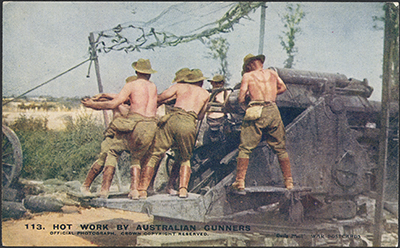 AWM Hot work by Australian gunners