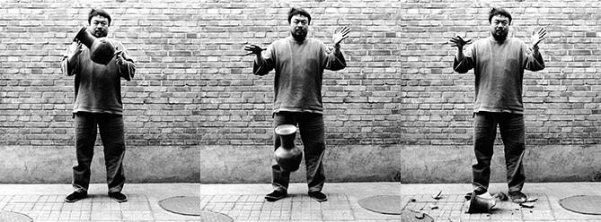 Ai Weiwei Urn Triptych