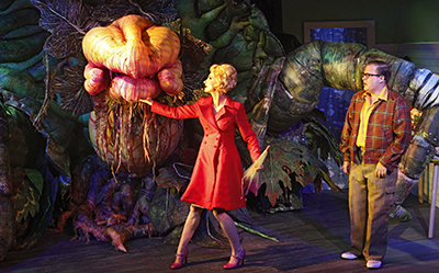 LSOH Audrey II, Esther Hannaford, Brent Hill photo by Jeff Busby