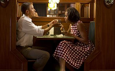 David Burnett Barack Obama and Michelle 2013