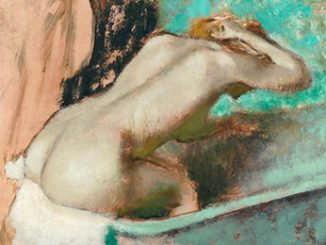 Edgar Degas Woman seated on the edge of a bath sponging her neck