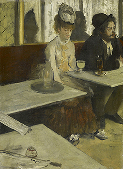 NGV Edgar Degas In a cafe The Absinthe drinker