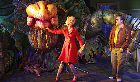 Little Shop of Horrors Audrey II, Esther Hannaford, Brent Hill photo by Jeff Busby