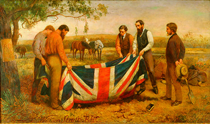 SLV William Strutt, The burial of Burke 1911