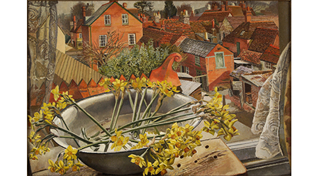 Stanley Spencer, From the artist's window cookham 1938