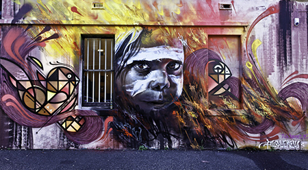 Street art in Fitzroy Melbourne another Pokestop