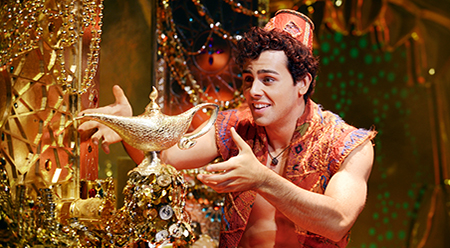 Ainsley Melham as Aladdin with the Lamp - photo By Deen van Meer