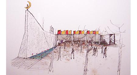 NGV Glenn Murcutt AO, Australian Islamic Centre, architecture sketch 2006–16