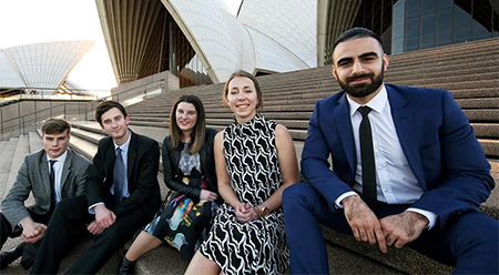 SOH Australian winners of the MADE student exchange - photo by Prudence Upton