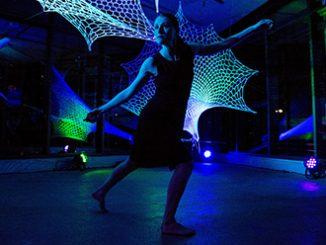 Strings Attached Alison Plevey - Meriel Owen background photo by Lorna Sim