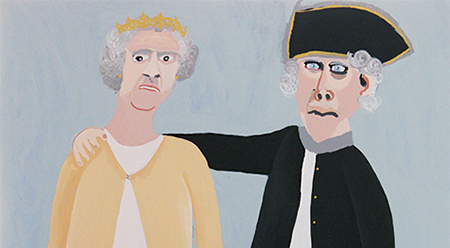 Vincent Namatjira Queen Elizabeth and Captain Cook, 2015
