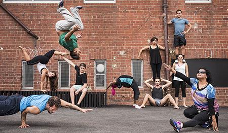 Circus Oz BLAKflip 2016 photo by Rob Blackburn