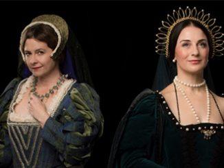 Sally-Anne Russell as Jane Seymour and Elena Xanthoudakis as Anne Boleyn - photo by Jodie Hutchinson