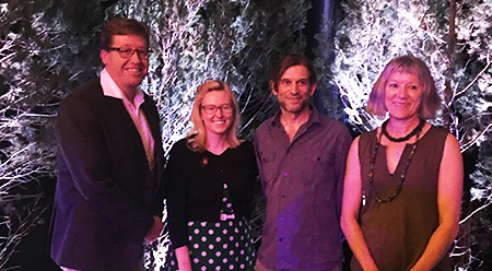 Minister for the Arts Troy Grant with recipients of the Regional Arts Fellowships