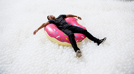 Sydney Festival The Beach by Snarkitecture - photo by Noah Kalina