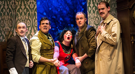 The Play That Goes Wrong at The Duchess Theatre, London - photo by Helen Murray