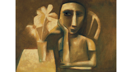 Charles Blackman, Girl with Flowers 1956