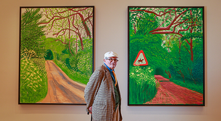 David Hockney inside the world - premiere exhibition David Hockney: Current at the National Gallery of Victoria, Melbourne. Photo: Wayne Taylor