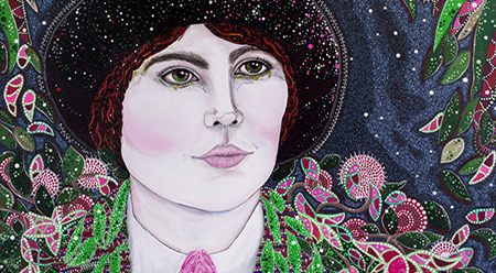 Sally Paxton Edna Walling (detail) 2016. Trailblazing Women of Herstory, Neospace Gallery