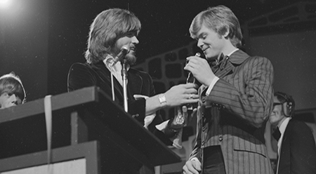 Barry Gibb, John Farnham and Molly Meldrum at The Go-Set Awards, 1970 - Arts Centre Melbourne, Performing Arts Collection