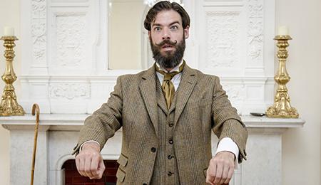 Christopher Samuel Carroll as Bennett Cooper Sullivan in Early Grave, Fashionably Late - photo by Alexander JE Bradley