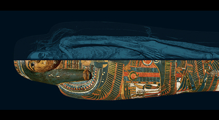 MAAS Egyptian Mummies Temple Singer with scan_© Trustees of the British Museum