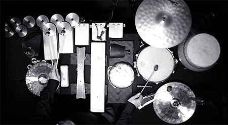Syneryg Percussion Damian Barbeler Messy Sounds (video still)