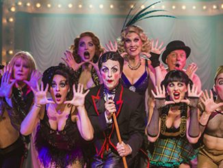 Hayes Theatre Co cast of Cabaret with Paul Capsis as The Emcee