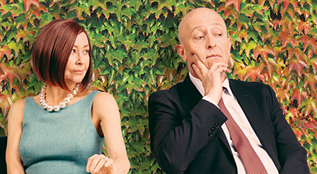 Tracy Mann and David Whitney in Relatively Speaking Glen Street Theatre