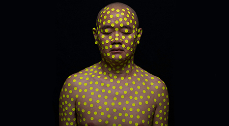 Political Acts - Liew Teck Leong 'Body+Dots+Politics (Yellow),' 2016. Courtesy the artist