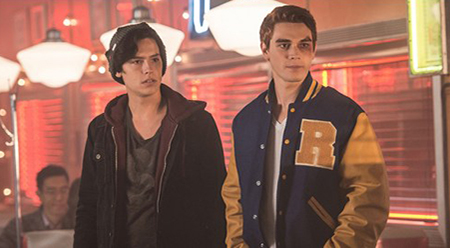 Riverdale Cole Sprouse as Jughead Jones and KJ Apa as Archie Andrews - courtesy of The CW