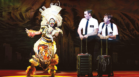 The Book of Mormon, Phyre Hawkins, Ryan-Bondy, A.J.-Holmes - photo by Jeff Busby