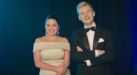 Myf Warhurst and Joel Creasey - photo courtesy of SBS
