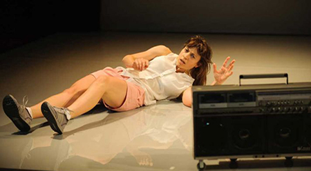 Nicola Gunn Piece for Person and Ghetto Blaster - photo by Sarah Walker